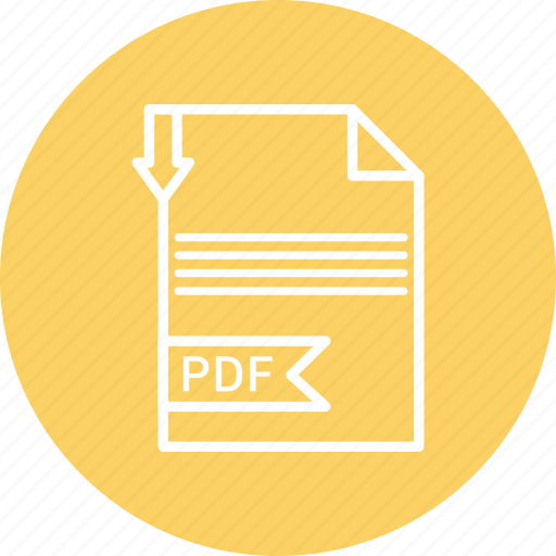document, file, format, pdf, type icon