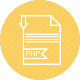 document, file, format, php, type icon
