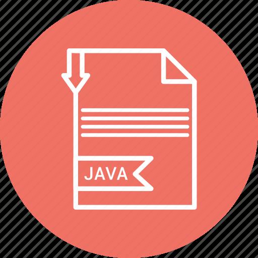 extensiom, file, file format, jav icon