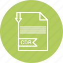cdr, document, file, format, type icon