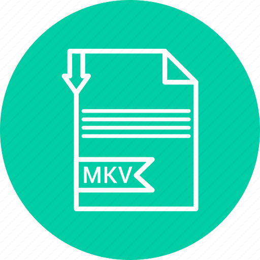 document, extension, file, mkv icon