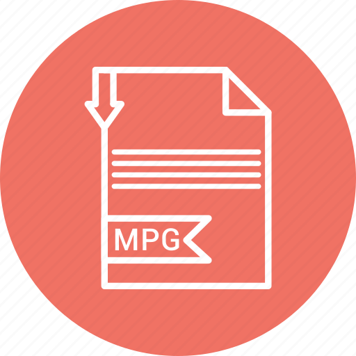 document, extension, file, mpg icon