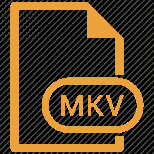 extension, file, file format, mkv icon