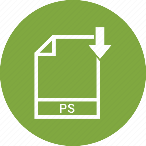 document, file, format, ps, type icon
