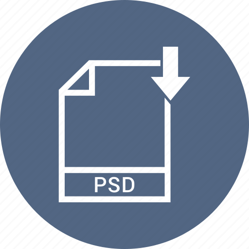 document, file, format, psd, type icon