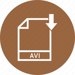 avi, document, extension, file icon