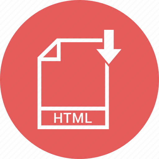 document, extension, file, html icon