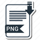 document, extension, file, format, png file icon