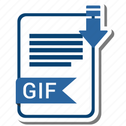 document, extension, file, gif icon