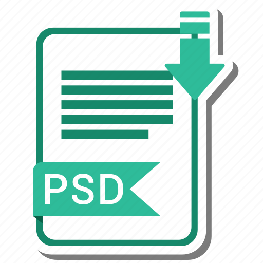 document, extension, file, psd icon