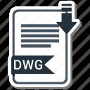 document, dwg, extension, folder, paper