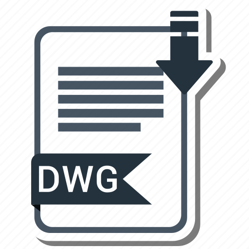 document, dwg, extension, folder, paper icon