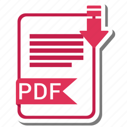 document, extension, folder, paper, pdf icon