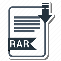 document, extension, folder, paper, rar icon