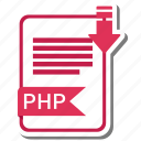 document, extension, folder, paper, php