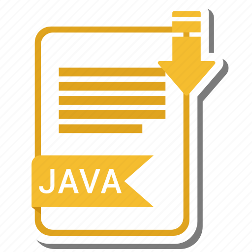 document, extension, file, format, java icon