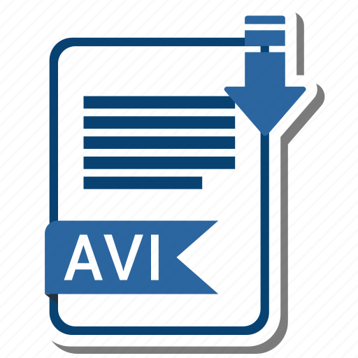 avi, document, extension, folder, paper icon