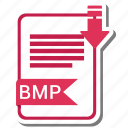 bmp, document, extension, file, format icon