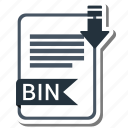 bin, document, extension, folder, paper icon