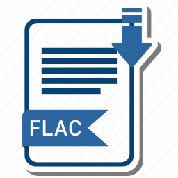document, extension, file, flac, format icon