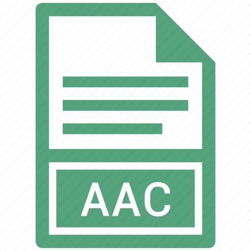 aac, document, extension, file icon