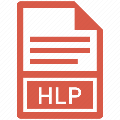 document, extension, file, hlp icon