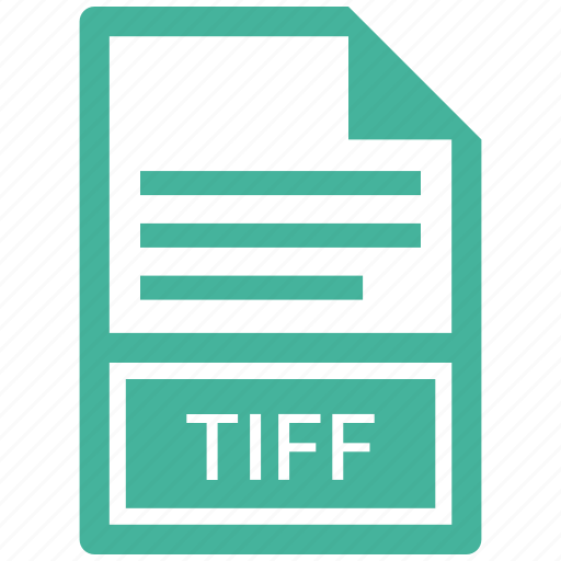 document, extension, file, tiff icon