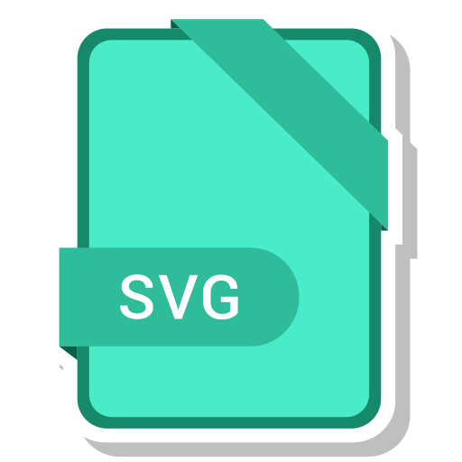 extension, file, format, paper, svg file icon