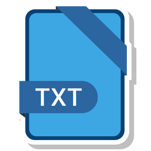 document, extension, format, paper, txt icon