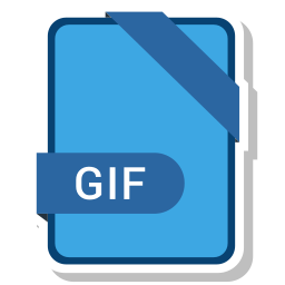 document, extension, format, gif, paper icon
