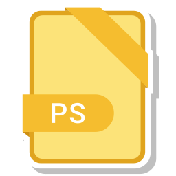 document, extension, format, paper, ps icon