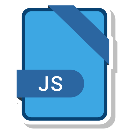 extension, file, format, js, paper icon