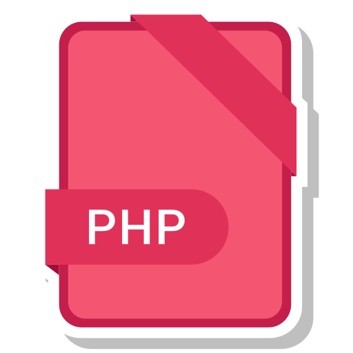 extension, file, format, paper, php icon