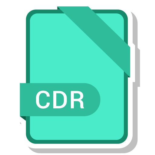 cdr, extension, file, format, paper icon