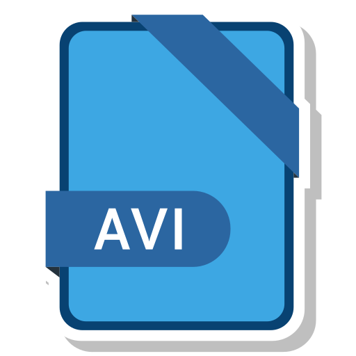 avi, extension, file, format, paper icon