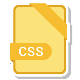 css, document, file, name icon