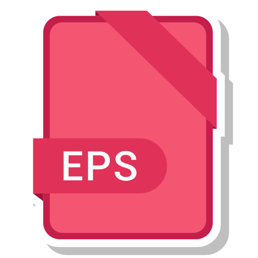 eps, extension, file, format, paper icon