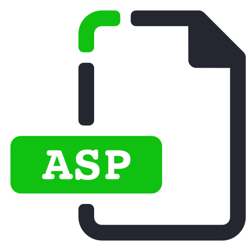 asp, extension, file, internet icon