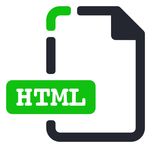 extension, file, html, internet icon