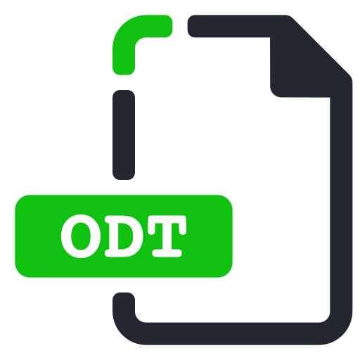extension, file, odt, processor, text, word icon