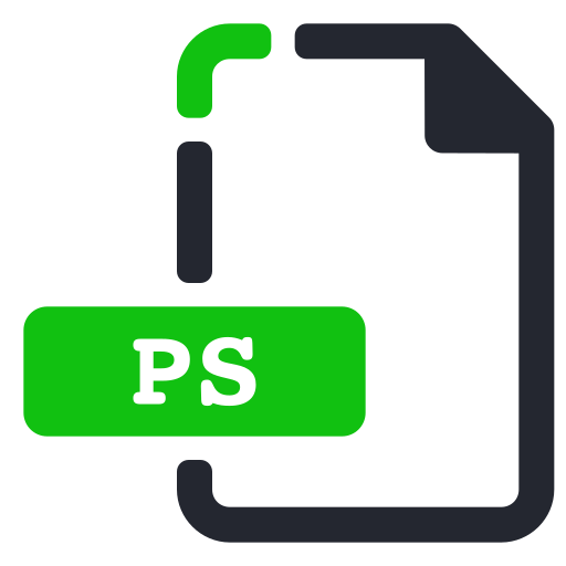 extension, file, images, ps icon