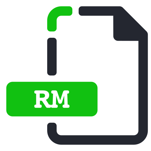 extension, file, rm, video icon