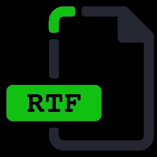 extension, file, processor, rtf, text, word icon