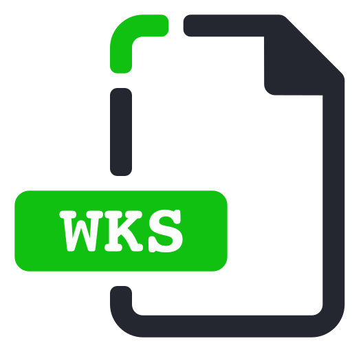 extension, file, processor, text, wks, word icon