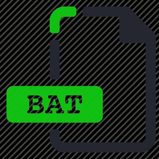bat, executable, extension, file icon