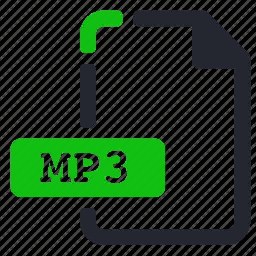 audio, extension, file, mp3 icon