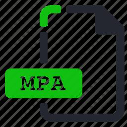 audio, extension, file, mpa icon