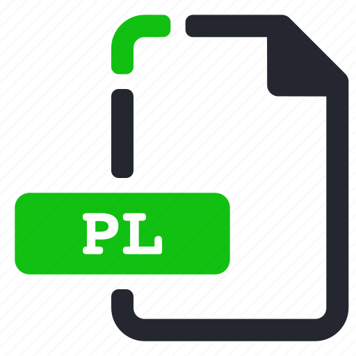 executable, extension, file, pl icon