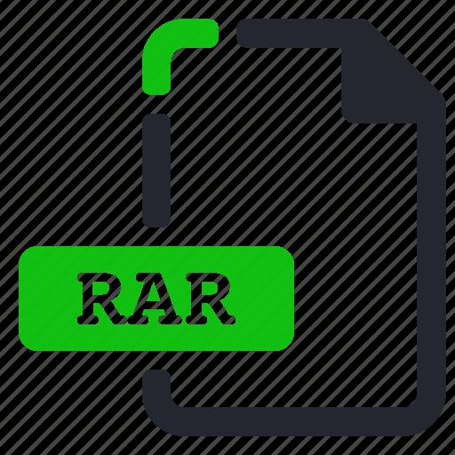 compressed, extension, file, rar icon