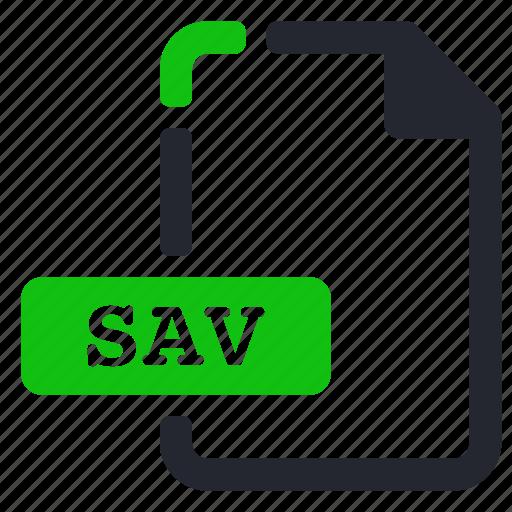 data, database, extension, file, sav icon